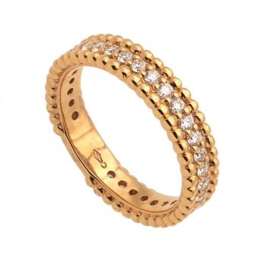 Sortija de oro rosa y diamantes  - 1
