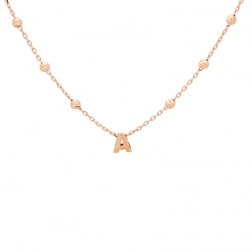 Cadena de oro rosa.  - 1