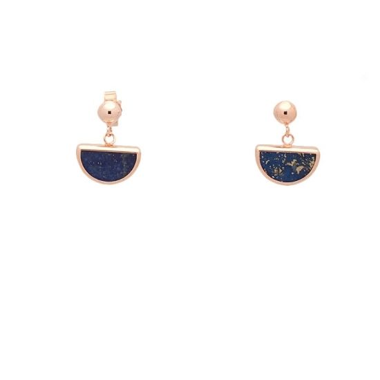 Pendientes de oro rosa y lapislázuli  - 1