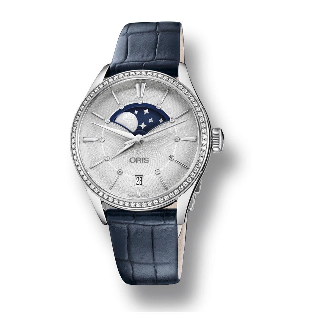 Reloj Oris Artelier Grande Lune Date Diamonds -01 763 7723 4951-07 5 18 66FC  - 1