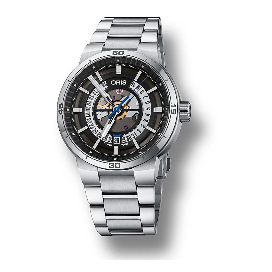 Reloj Oris TT1 Engine Date - 01 733 7752 4124-07 8 24 08  - 1