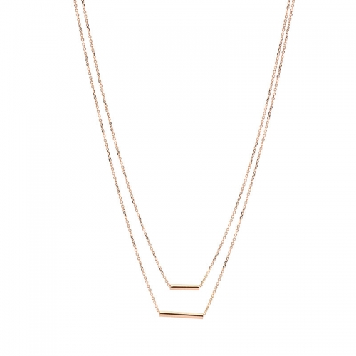 Collar cadena de oro rosa  - 1