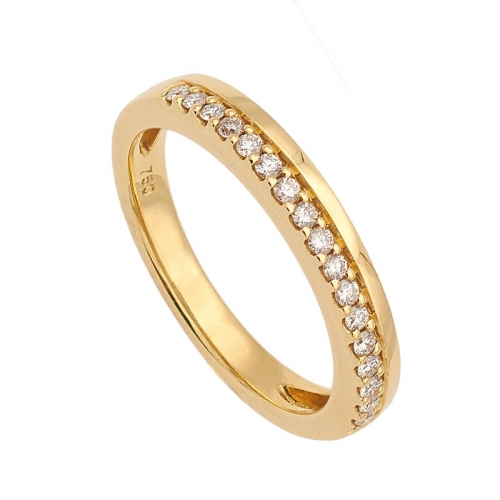 Sortija de oro amarillo y diamantes  - 1